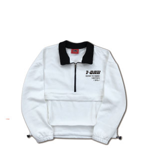 POCKET SWEATER - WHITE